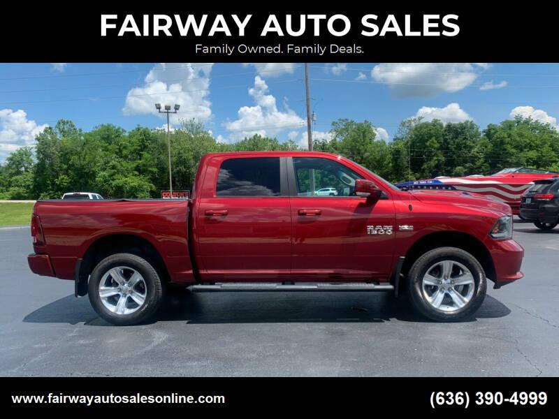 2015 RAM Ram Pickup 1500 for sale at FAIRWAY AUTO SALES in Washington MO
