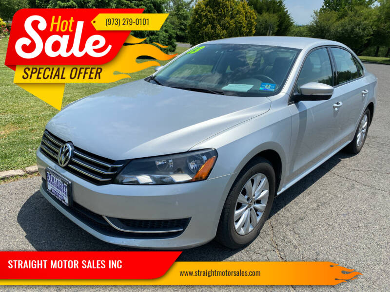 2013 Volkswagen Passat for sale at STRAIGHT MOTOR SALES INC in Paterson NJ