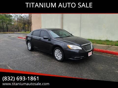 2011 Chrysler 200 for sale at TITANIUM AUTO SALE in Houston TX