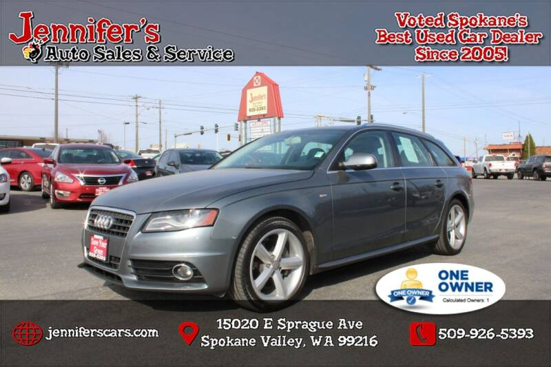 2012 Audi A4 for sale at Jennifer's Auto Sales in Spokane Valley WA