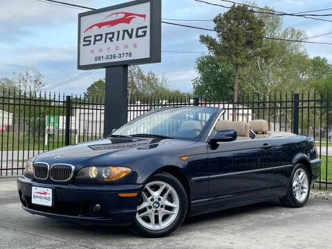 2004 BMW 3 Series for sale at Spring Motors in Spring TX