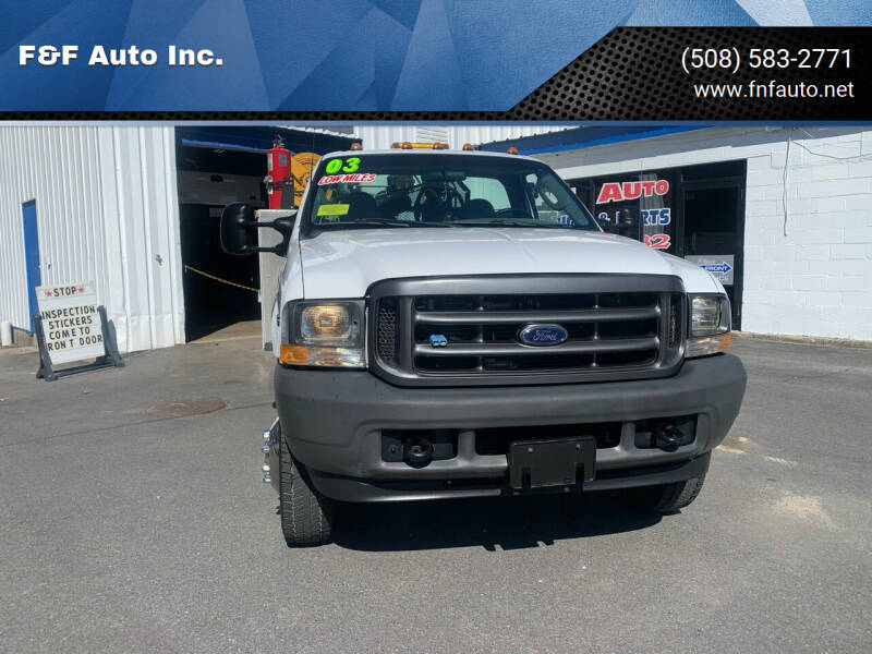 2003 Ford F-450 Super Duty for sale at F&F Auto Inc. in West Bridgewater MA