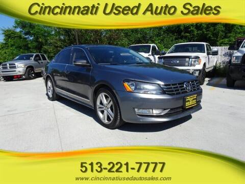 2014 Volkswagen Passat for sale at Cincinnati Used Auto Sales in Cincinnati OH