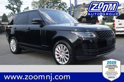 2018 Land Rover Range Rover for sale at Zoom Auto Group in Parsippany NJ