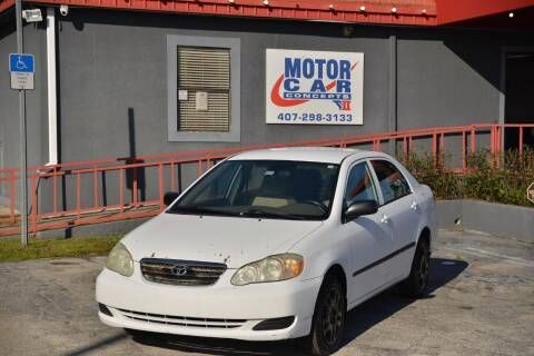 2006 Toyota Corolla for sale at Motor Car Concepts II - Kirkman Location in Orlando FL