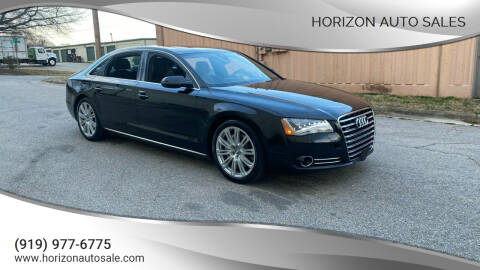 2013 Audi A8 L for sale at Horizon Auto Sales in Raleigh NC