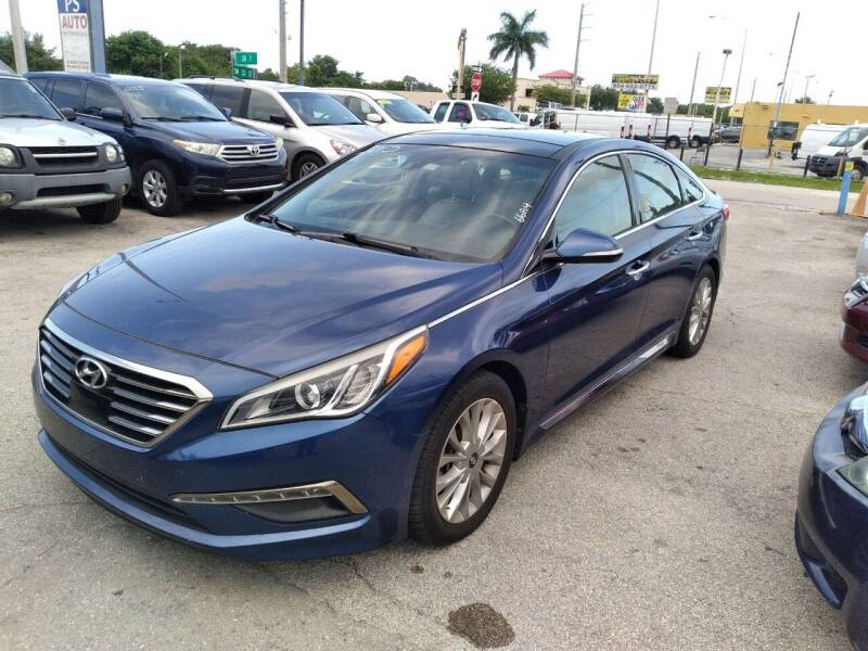 2015 Hyundai Sonata for sale at P S AUTO ENTERPRISES INC in Miramar FL