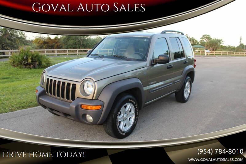 2004 Jeep Liberty for sale at Goval Auto Sales in Pompano Beach FL