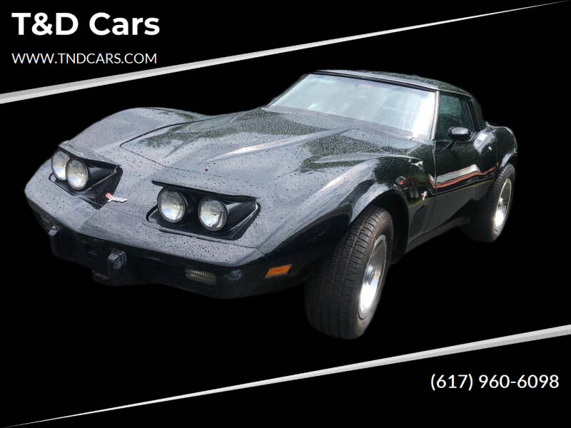 1979 Chevrolet Corvette for sale at T&D Cars in Holbrook MA