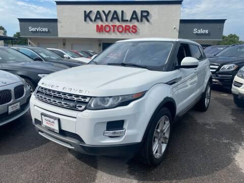 2015 Land Rover Range Rover Evoque for sale at KAYALAR MOTORS in Houston TX