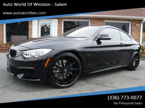 2014 BMW 4 Series for sale at Auto World Of Winston - Salem in Winston Salem NC
