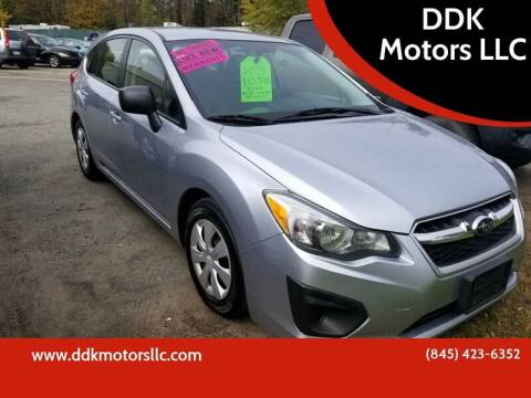 2014 Subaru Impreza for sale at DDK Motors LLC in Rock Hill NY