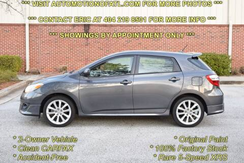 2009 Toyota Matrix for sale at Automotion Of Atlanta in Conyers GA