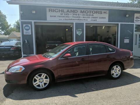 2011 Chevrolet Impala for sale at Richland Motors in Cleveland OH
