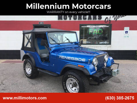 1975 Jeep CJ-5 for sale at Millennium Motorcars in Yorkville IL