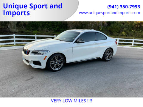 2016 BMW 2 Series for sale at Unique Sport and Imports in Sarasota FL