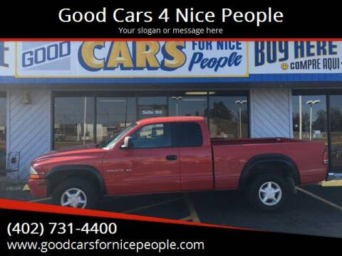1997 Dodge Dakota for sale at Good Cars 4 Nice People in Omaha NE