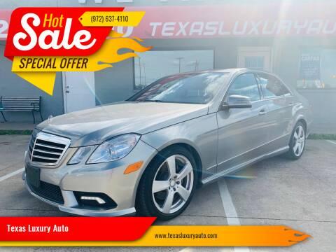 2011 Mercedes-Benz E-Class for sale at Texas Luxury Auto in Cedar Hill TX