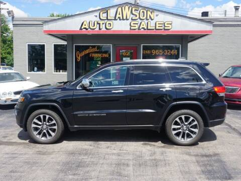 2018 Jeep Grand Cherokee for sale at Clawson Auto Sales in Clawson MI