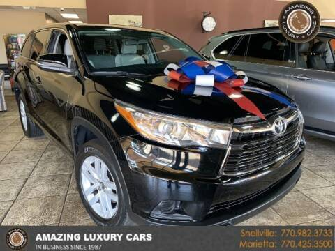 2016 Toyota Highlander for sale at Amazing Luxury Cars in Snellville GA