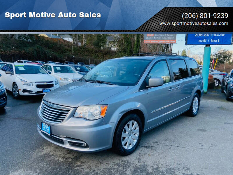 2014 Chrysler Town and Country for sale at Sport Motive Auto Sales in Seattle WA