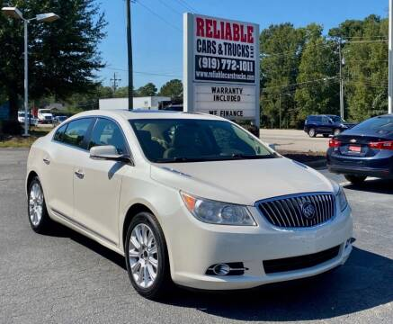 2013 Buick LaCrosse for sale at Reliable Cars & Trucks LLC in Raleigh NC