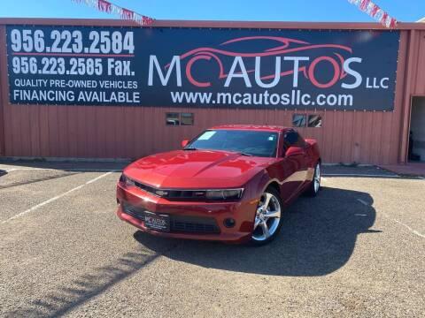 2015 Chevrolet Camaro for sale at MC Autos LLC in Pharr TX