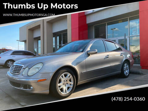 2005 Mercedes-Benz E-Class for sale at Thumbs Up Motors in Warner Robins GA