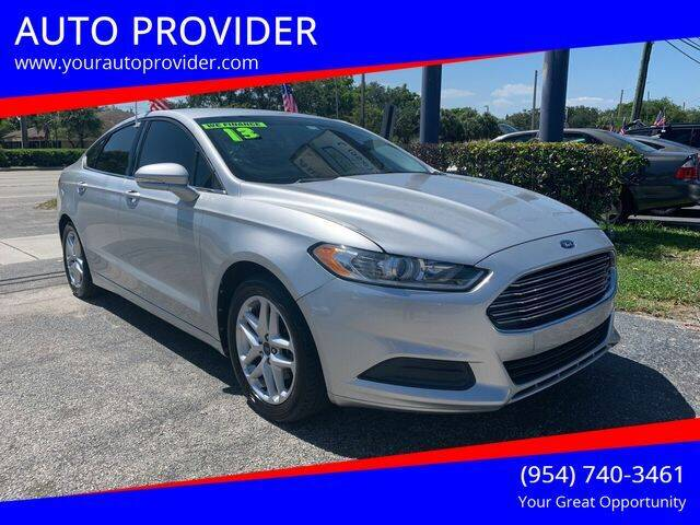 2013 Ford Fusion for sale at AUTO PROVIDER in Fort Lauderdale FL