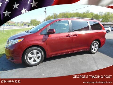 2017 Toyota Sienna for sale at GEORGE'S TRADING POST in Scottdale PA