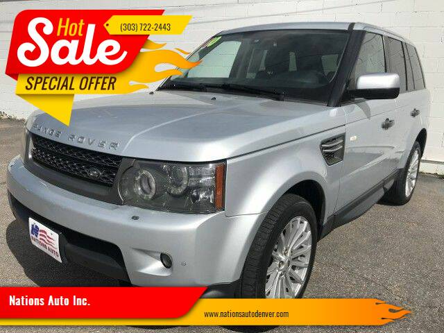2010 Land Rover Range Rover Sport for sale at Nations Auto Inc. in Denver CO