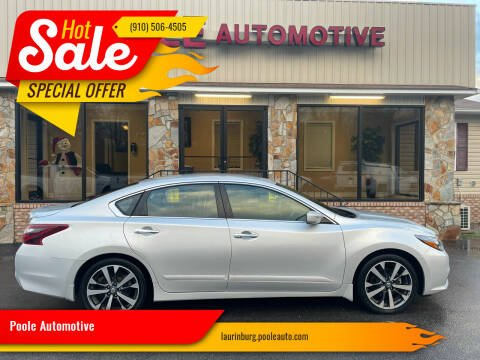 2017 Nissan Altima for sale at Poole Automotive in Laurinburg NC
