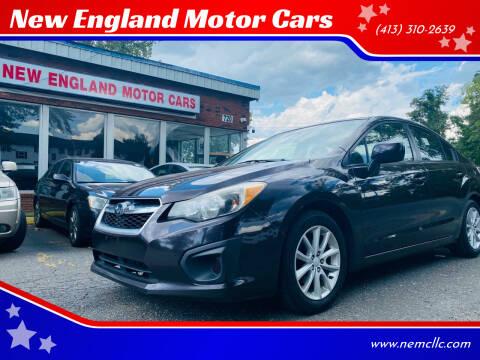 2012 Subaru Impreza for sale at New England Motor Cars in Springfield MA