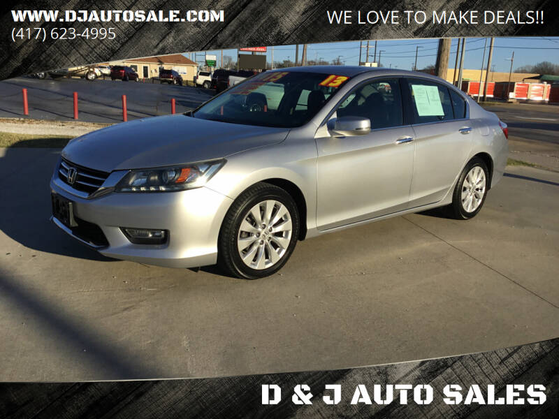 2013 Honda Accord for sale at D & J AUTO SALES in Joplin MO