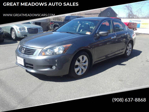 2009 Honda Accord for sale at GREAT MEADOWS AUTO SALES in Great Meadows NJ