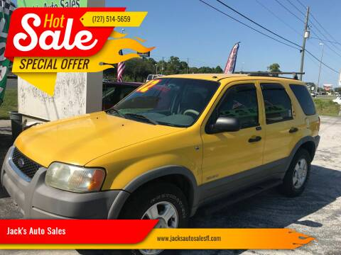 2002 Ford Escape for sale at Jack's Auto Sales in Port Richey FL