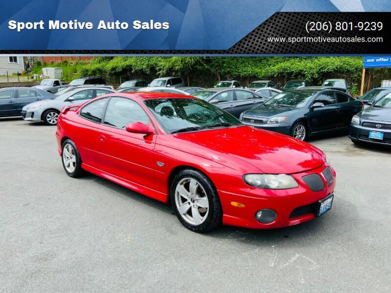 2004 Pontiac GTO for sale at Sport Motive Auto Sales in Seattle WA