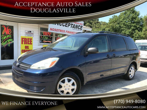 2004 Toyota Sienna for sale at Acceptance Auto Sales Douglasville in Douglasville GA