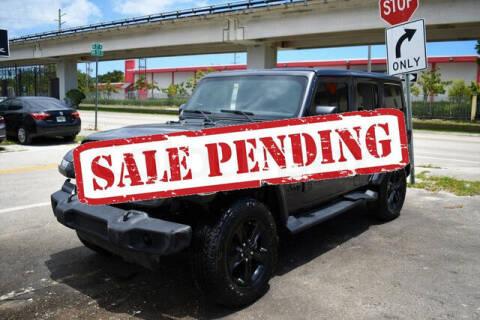 2021 Jeep Wrangler Unlimited for sale at ELITE MOTOR CARS OF MIAMI in Miami FL