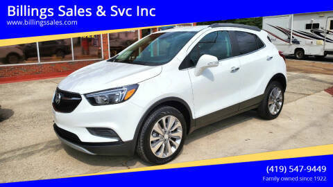 2018 Buick Encore for sale at Billings Sales & Svc Inc in Clyde OH
