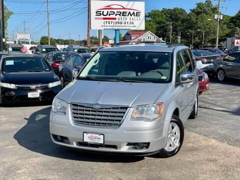 2010 Chrysler Town and Country for sale at Supreme Auto Sales in Chesapeake VA
