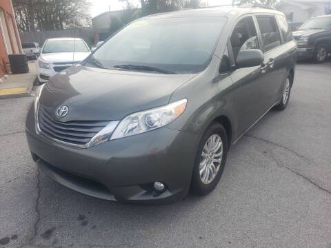 2012 Toyota Sienna for sale at Credit Cars LLC in Lawrenceville GA