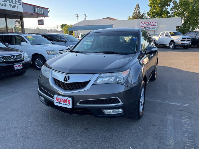 2012 Acura MDX for sale at Adams Auto Sales in Sacramento CA
