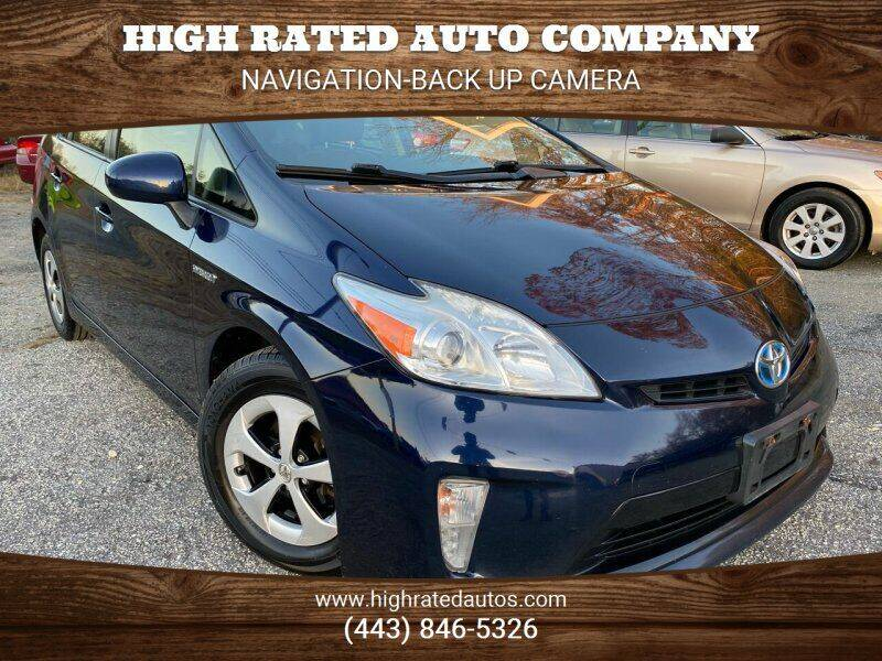 2012 Toyota Prius for sale at High Rated Auto Company in Abingdon MD