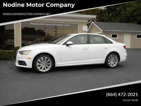 2018 Audi A4 for sale at Nodine Motor Company in Inman SC