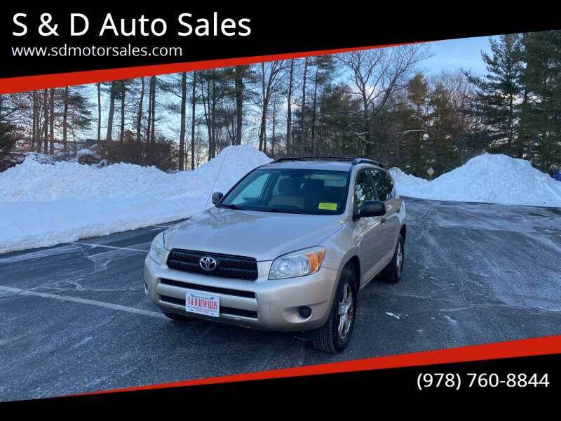2008 Toyota RAV4 for sale at S & D Auto Sales in Maynard MA