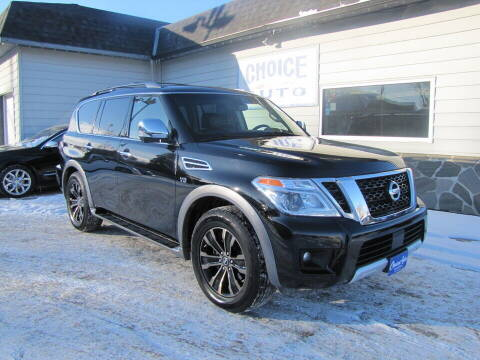 2017 Nissan Armada for sale at Choice Auto in Carroll IA