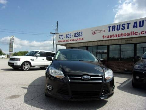 2012 Ford Focus for sale at Trust Autos, LLC in Decatur GA