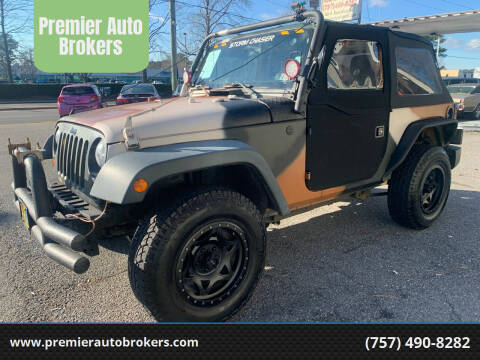 2012 Jeep Wrangler for sale at Premier Auto Brokers in Virginia Beach VA