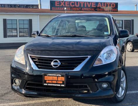 2012 Nissan Versa for sale at Executive Auto in Winchester VA